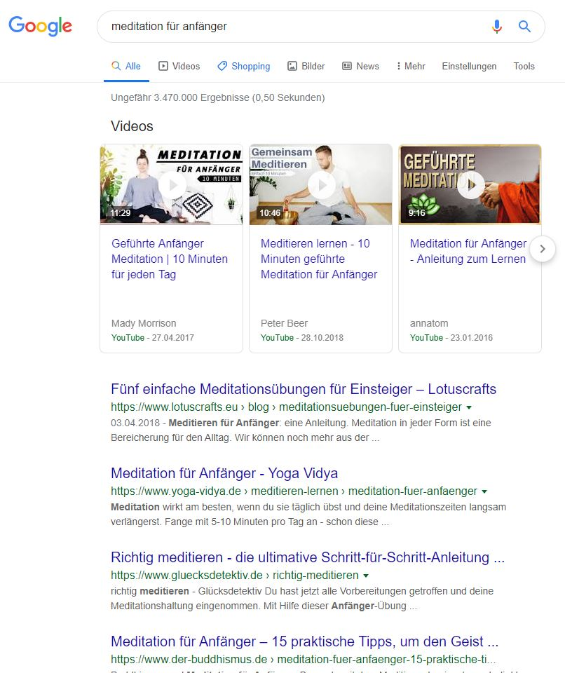 SEO Ranking für Content Marketing