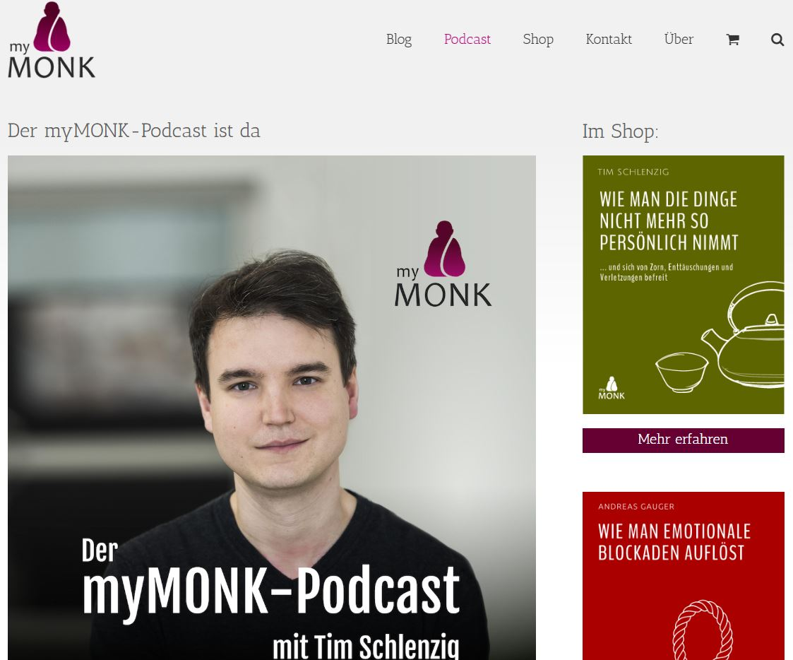 My Monk Podcast Anfang Sales Funnel