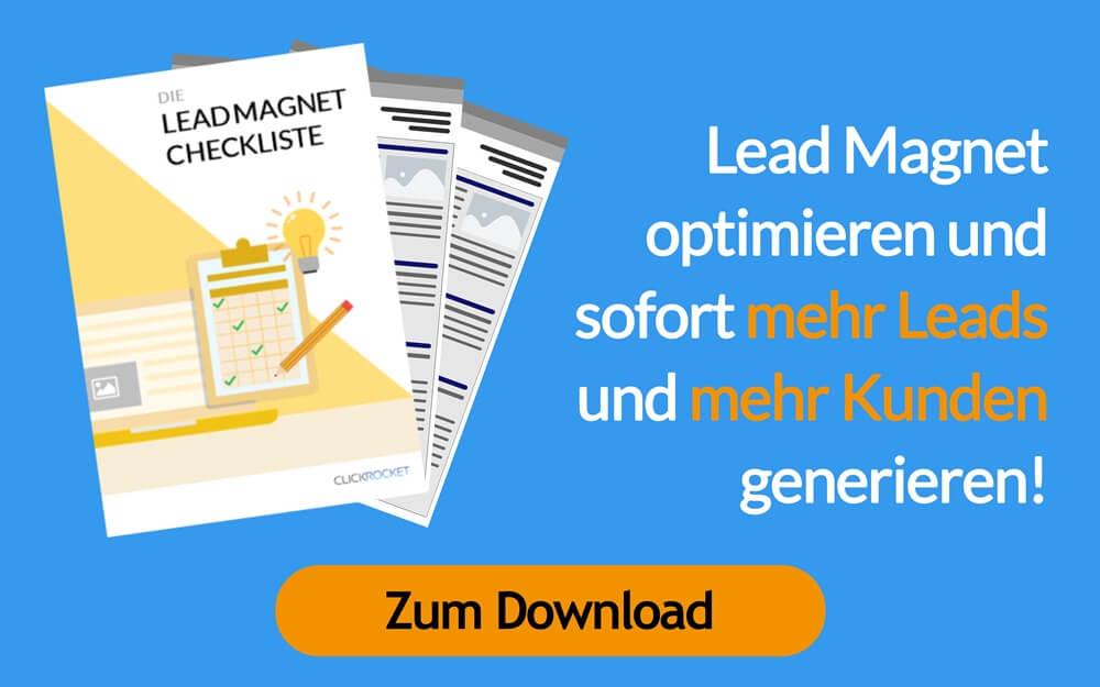 Lead Magnet Checkliste mit Beispielen
