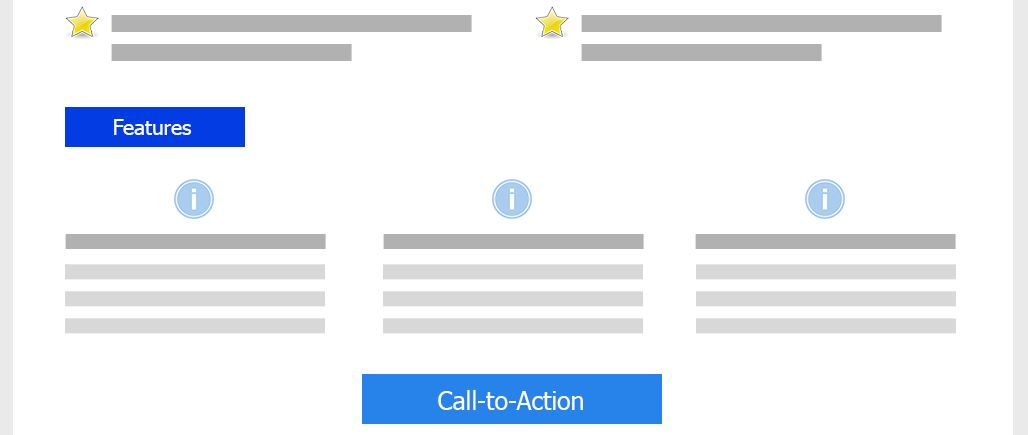 Features Landing Page