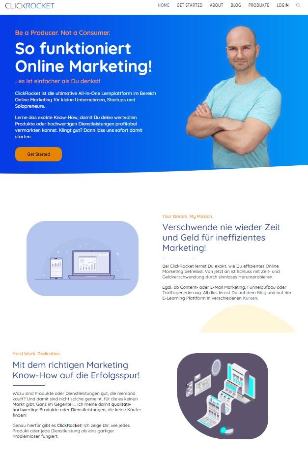 Unterschied Landing Page - Startseite Bild 1