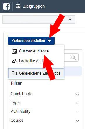 Facebook Custom Audience Schritt 2