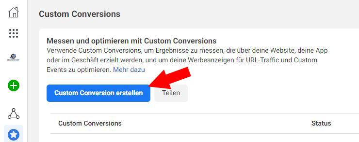 Facebook Custom Conversion Schritt 2.2