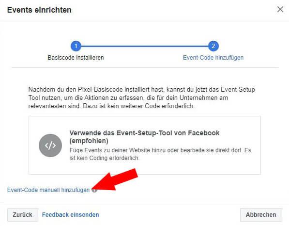 Facebook Pixel erstellen Schritt 7
