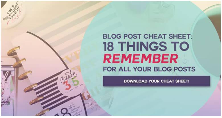 Lead Magnet Idee 1 Cheat Sheet Blog Post