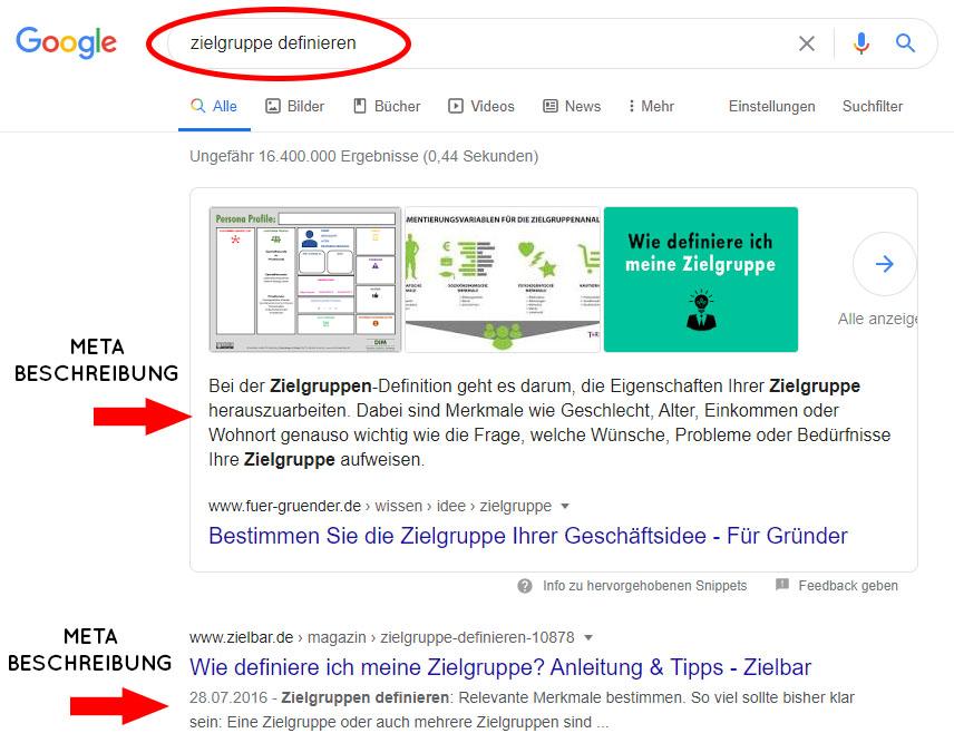Wordpress SEO Meta Beschreibung