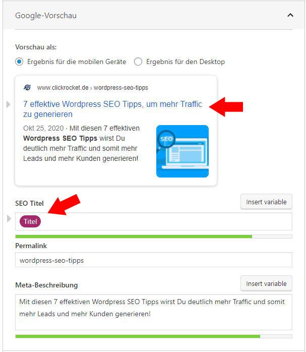 Wordpress SEO Tipp Titel