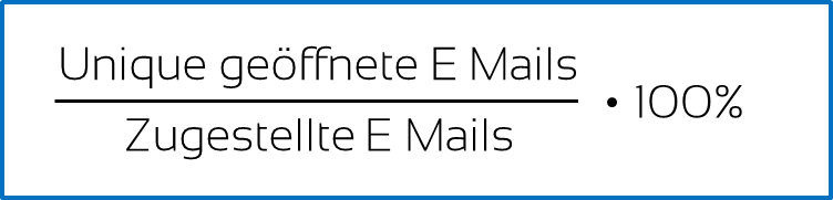 E-Mail Marketing Kennzahl #2 Öffnungsrate