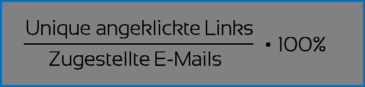 E-Mail Marketing Kennzahl #3 Klickrate