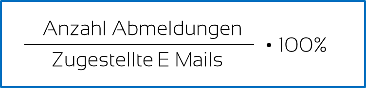 E-Mail Marketing Kennzahl #4 Abmelderate