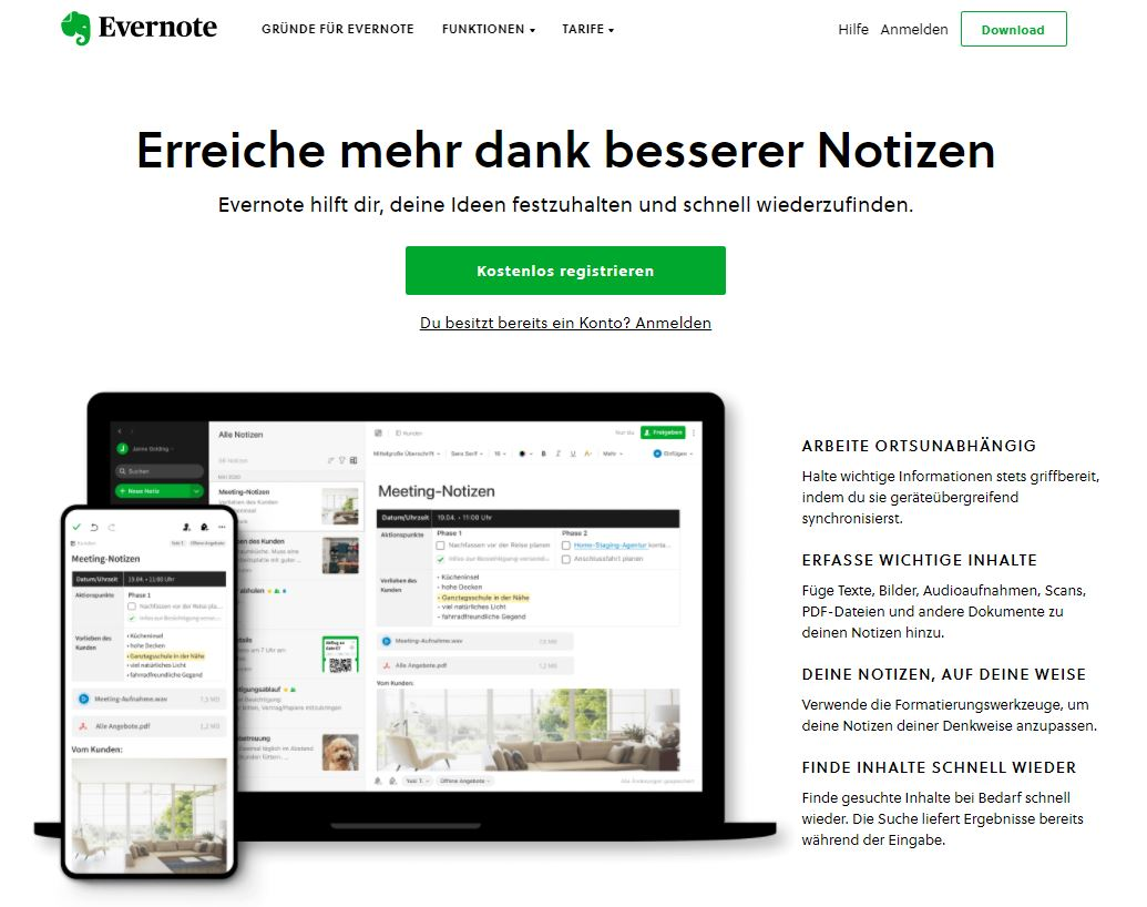 Content Marketing Tool 11 Evernote