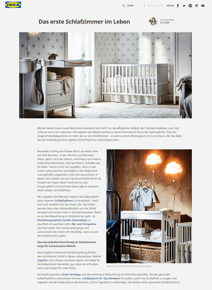 Content Marketing Beispiel Ikea Bild 1