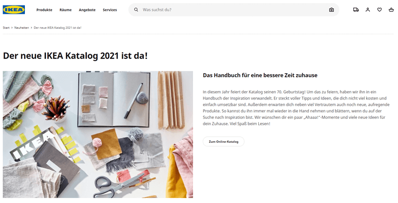 Content Marketing Beispiel Ikea