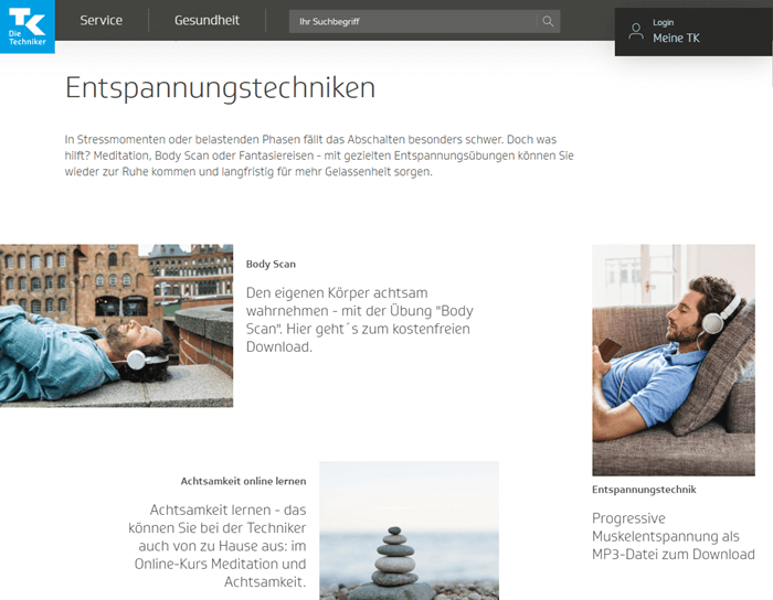Content Marketing Beispiel Techniker Krankenkasse