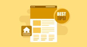 Tipps Homepage erstellen